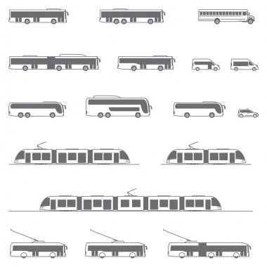 Vector public transport icons
