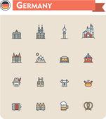 Fotografie Deutschland Reisen-Icon-set