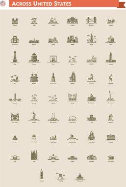 United States landmarks set