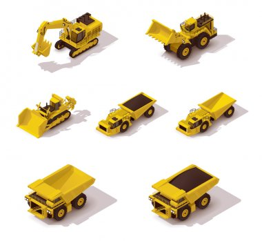 Vector isometric mining machinery set