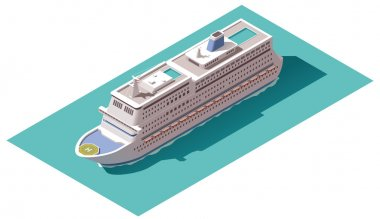 Vector isometric cruise ship