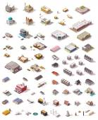 Fotografie Vector isometric buildings set