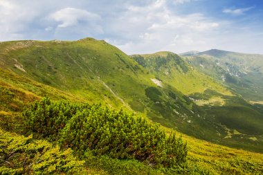 green mountain valley landscape