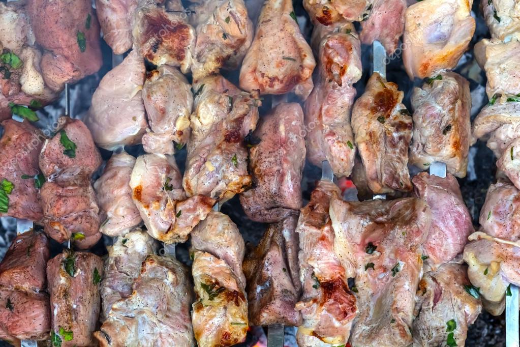 Closeup barbecue