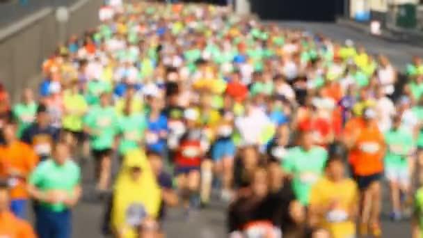 City marathon of blurred