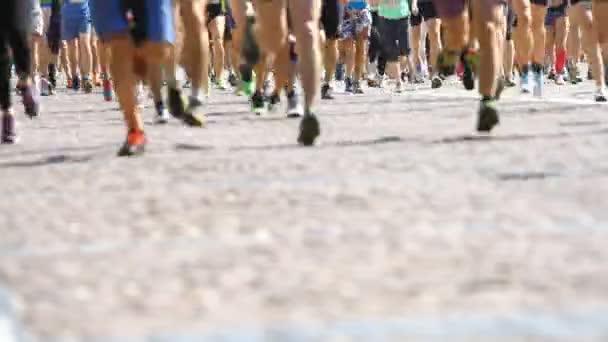 City Marathon  Feet of people
