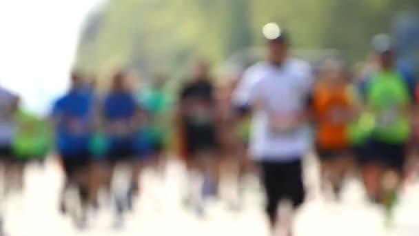 City marathon of people.