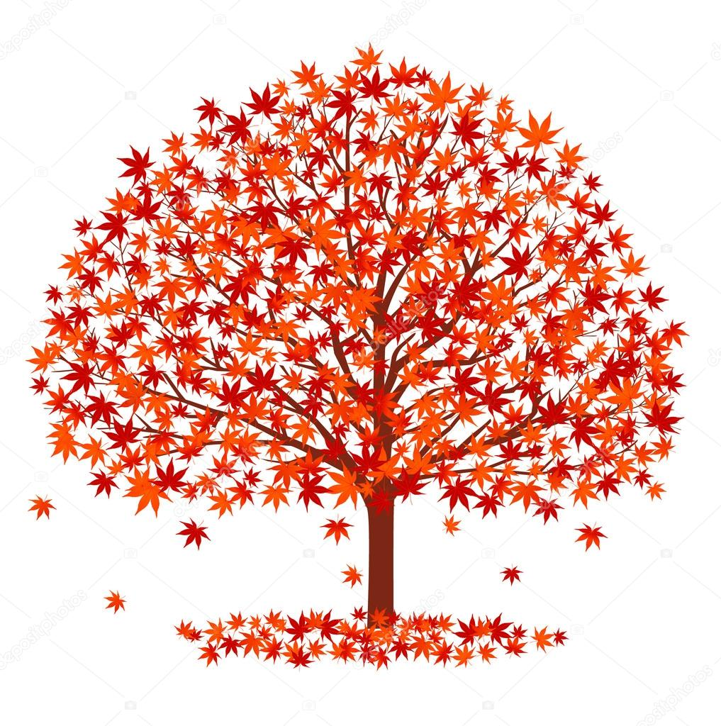 Autumn leaves fall icon background — Stock Vector © JBOY24 #115409932