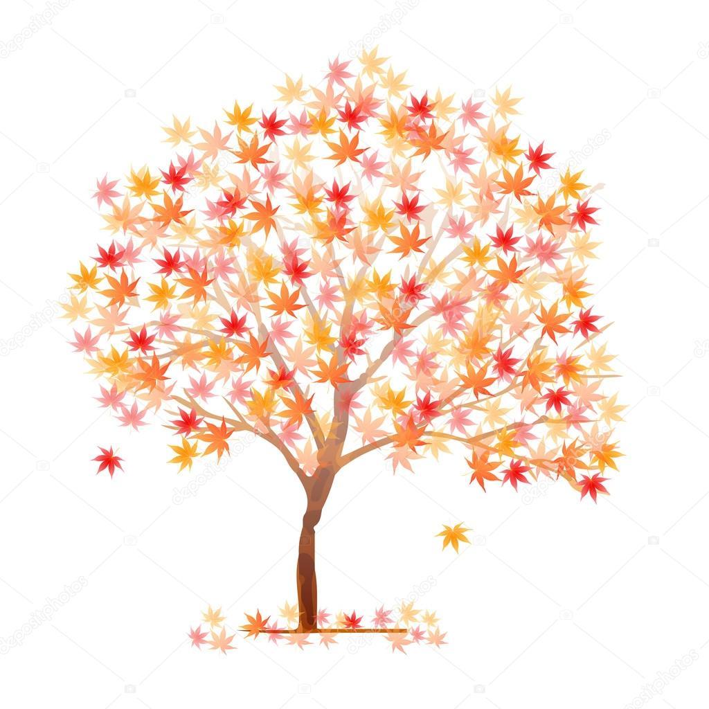 Autumn Leaves Fall Tree Icon Stock Vector C Jboy24 118122744