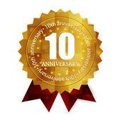 10. výročí medaile rámec
