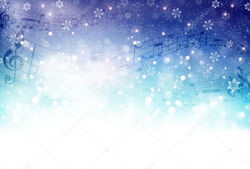 Music score snow
