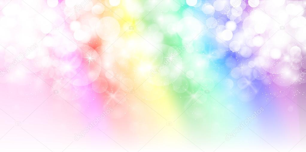 Snow rainbow background