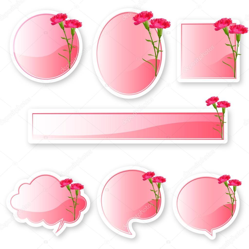 Marco dia de la madre clavel — Archivo Imágenes Vectoriales © JBOY24 ...