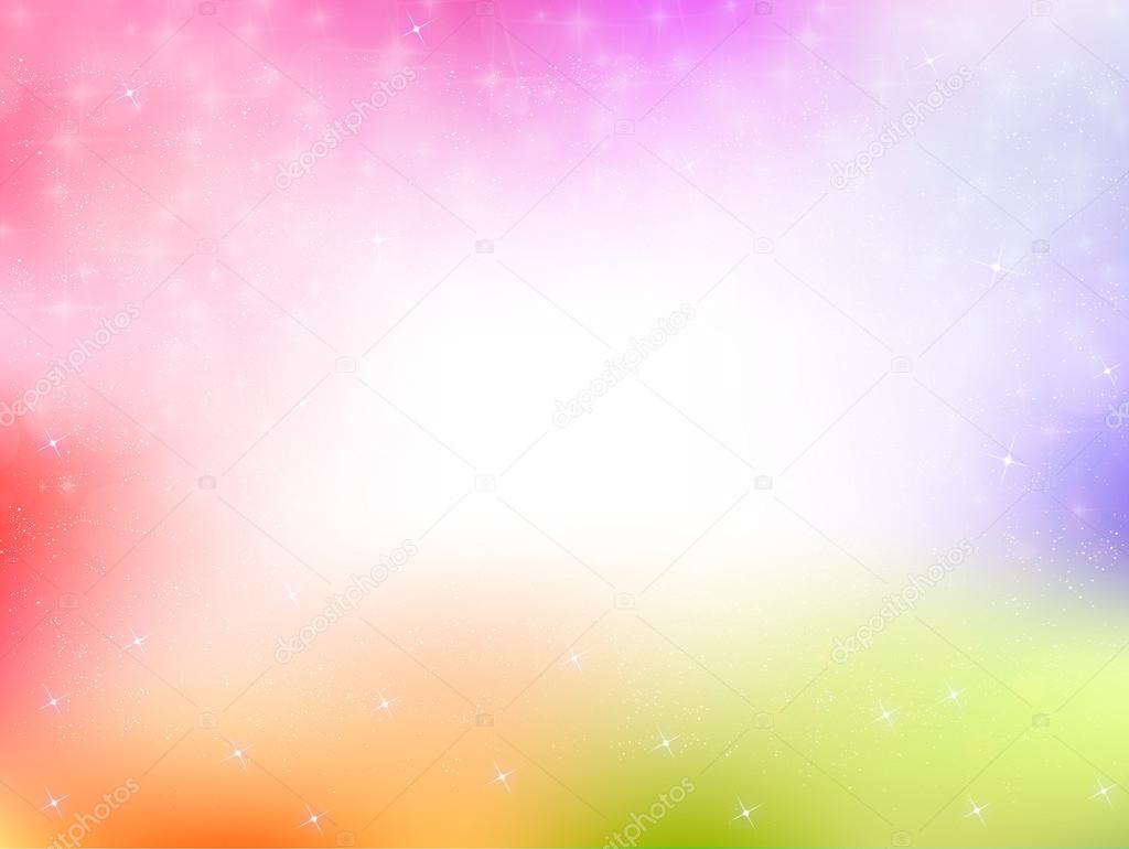 Rainbow Notes On Light Background Stock: Grafika Wektorowa © JBOY24 #71740205