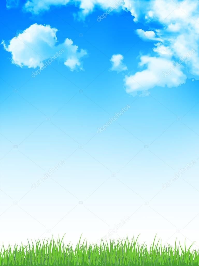 Sky grass background