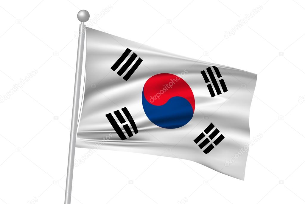 depositphotos 76571947 stock illustration south korea national flag flag - Что означает флаг Южной Кореи