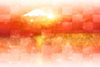 Fuji New Year's card background
