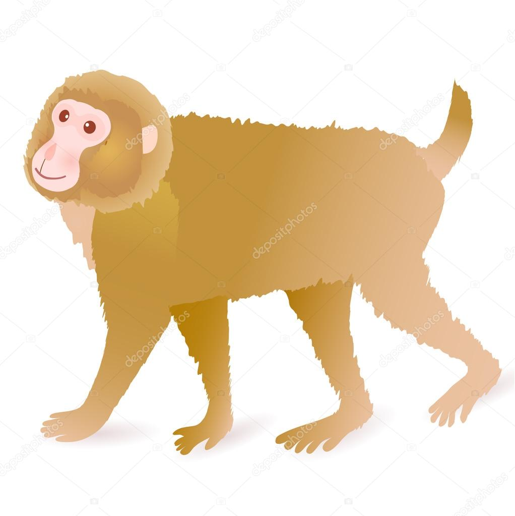 Monkey Cute Greeting Cards Icon Stock Vector Jboy24 88271112