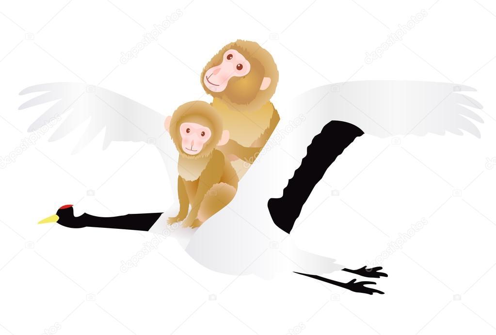 Monkey crane greeting cards icon stock vector jboy24 89717556 monkey crane greeting cards icon stock vector m4hsunfo