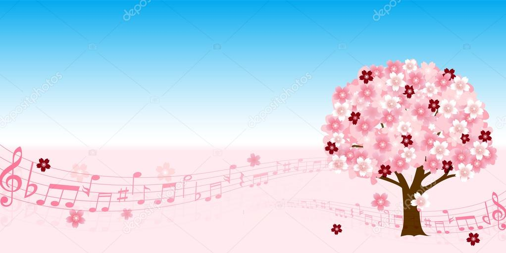 Cherry Spring music background