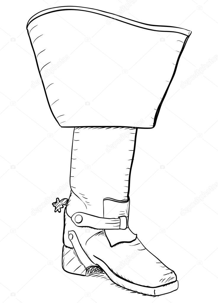 Alten Stil Stiefel mit Sporen. Eps8 Vektor — Stockvektor © Yunna ...