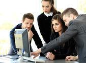 Fotografie Obrázek obchodních partnerů projednávání dokumentů a myšlenek