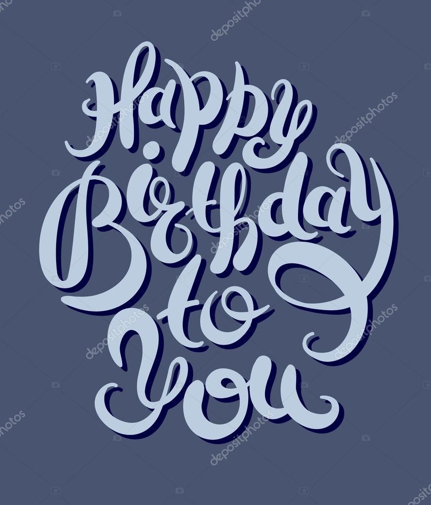 Hand Schriftzug Inschrift Typografie Vorlage zum Geburtstag zu ...