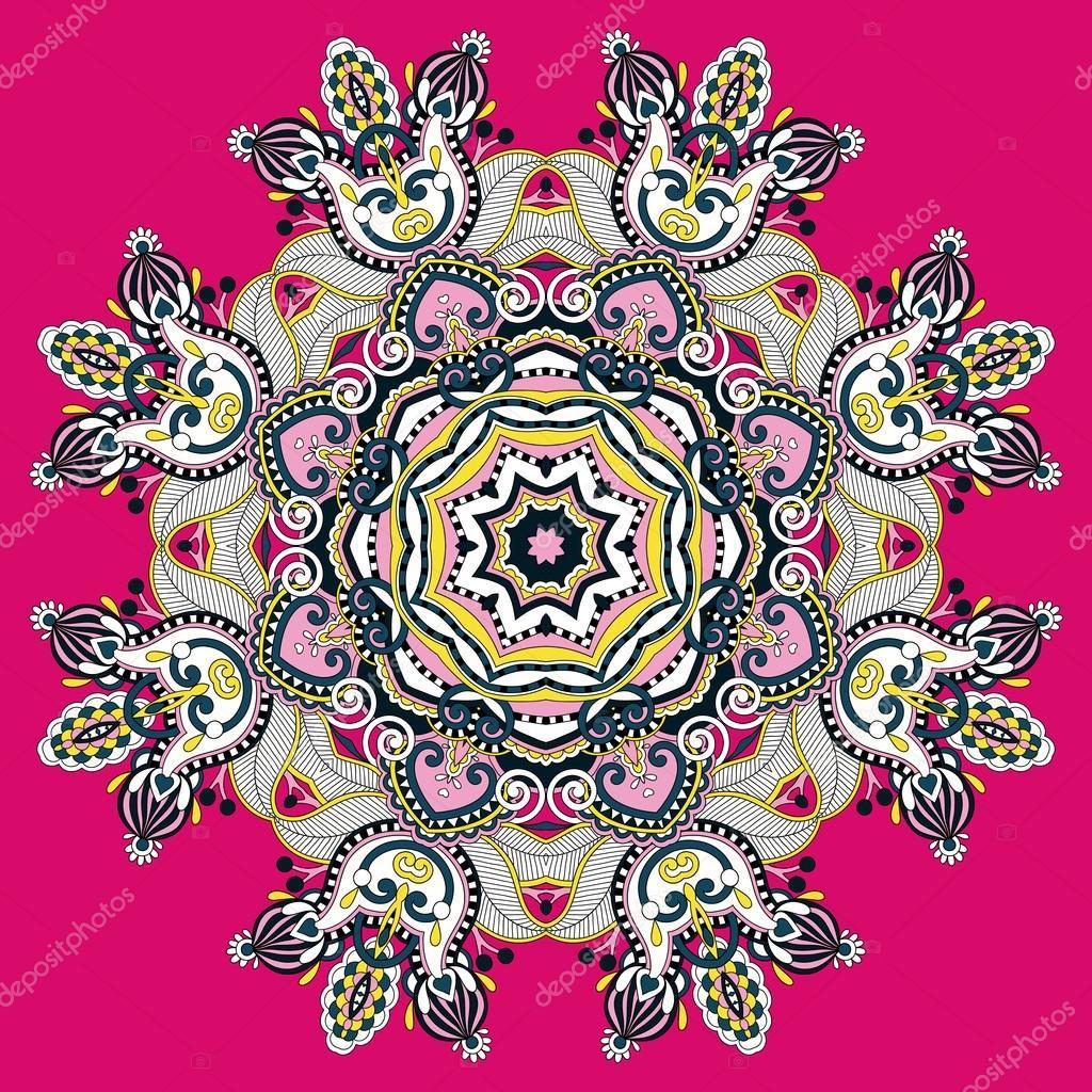 Mandala circle decorative spiritual indian symbol of lotus flow mandala circle decorative spiritual indian symbol of lotus flower round ornament pattern vector illustration vector by karakotsya mightylinksfo