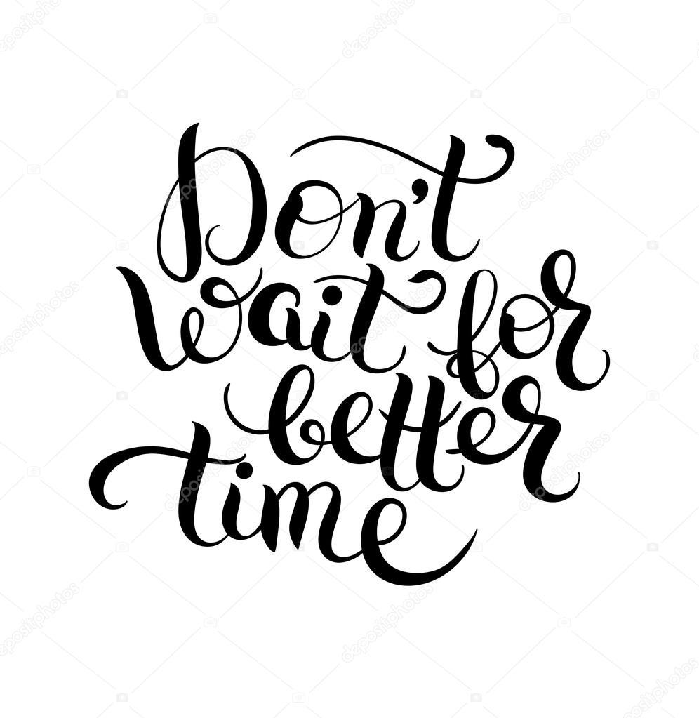 affiche de citation lettrage noir et blanc — image vectorielle