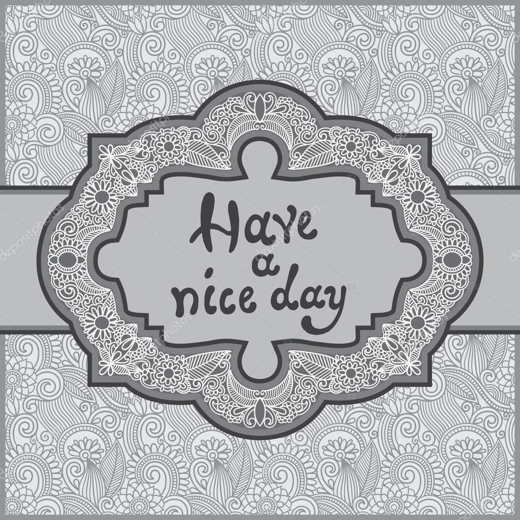 plantilla decorativa oriental gris para tarjetas de felicitación ...