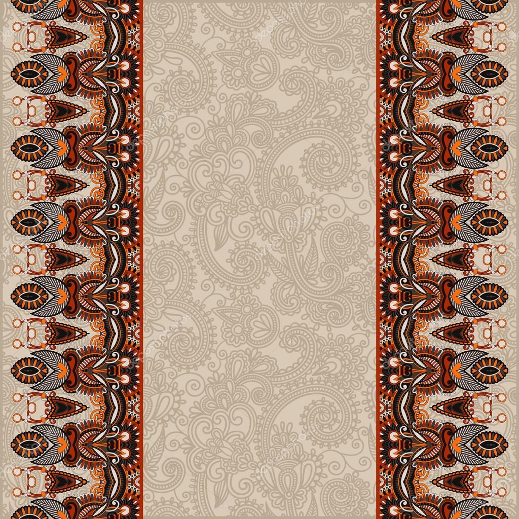 Fondo ornamental con flor de la cinta, el patrón de la raya, greeti ...