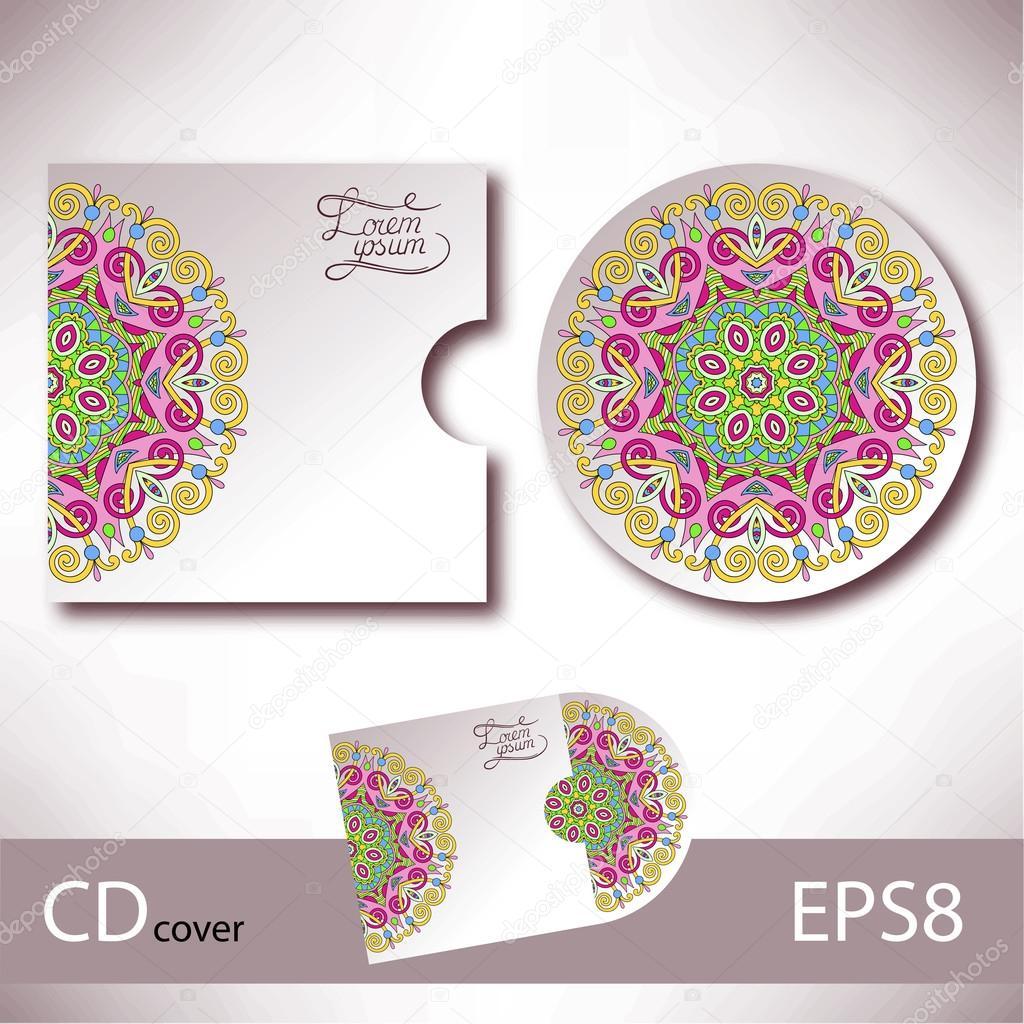 plantilla de diseño de portada de CD con estilo étnico ucraniano ...