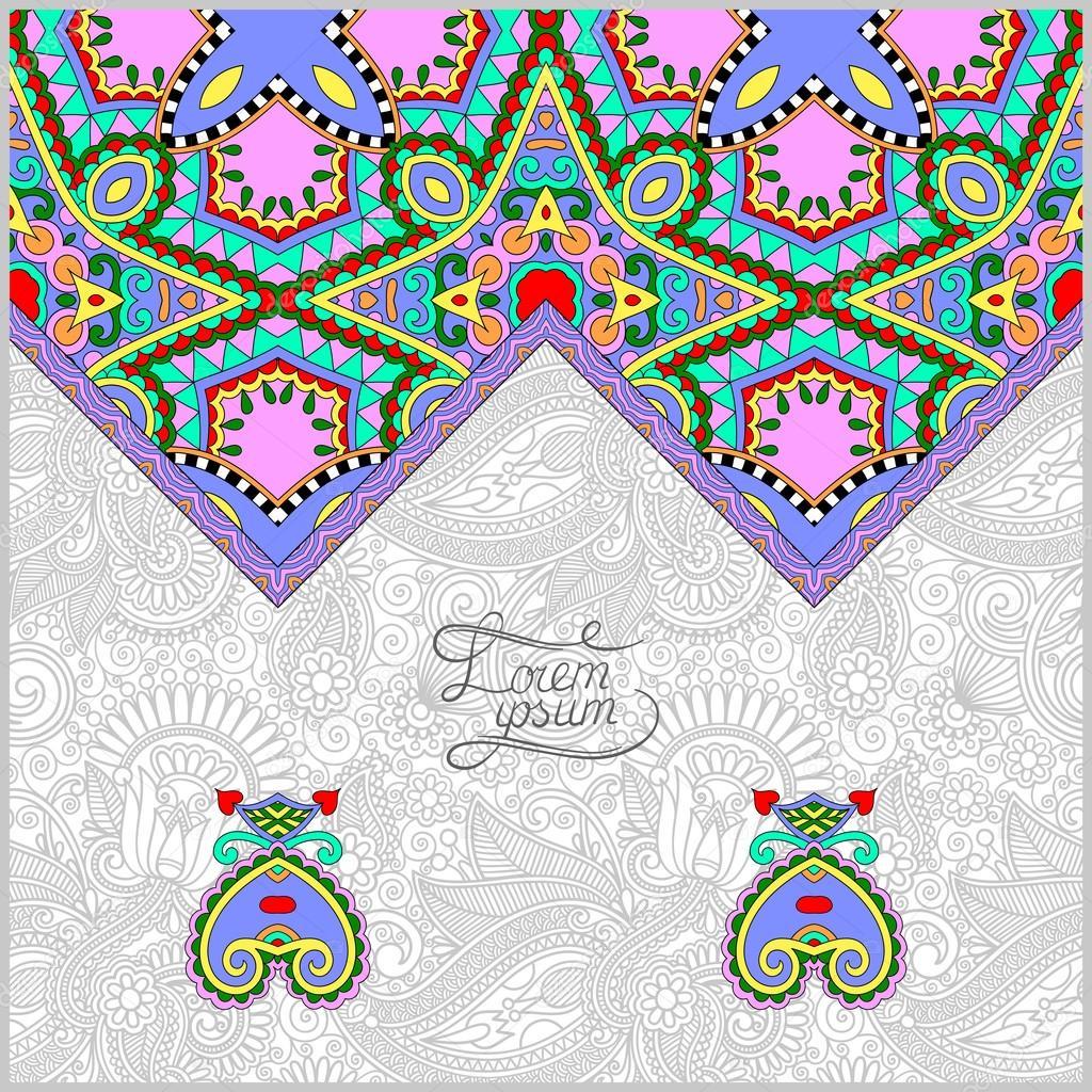 plantilla decorativa oriental para tarjetas de felicitación ...