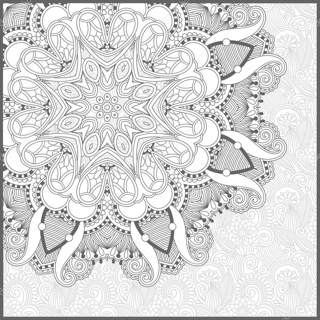 正方形のユニークな塗り絵大人 , 花の本格的な c のページし
