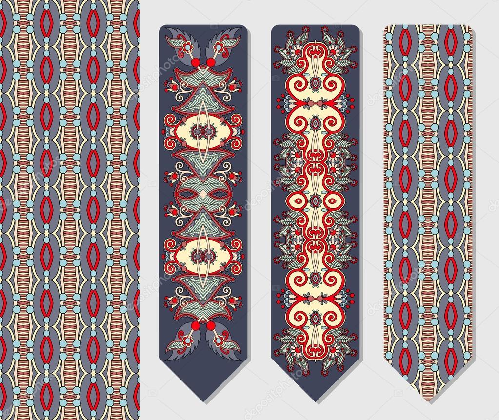 dekorative ethnische paisley zwei lesezeichen zum ausdrucken stockvektor karakotsya 83673148. Black Bedroom Furniture Sets. Home Design Ideas