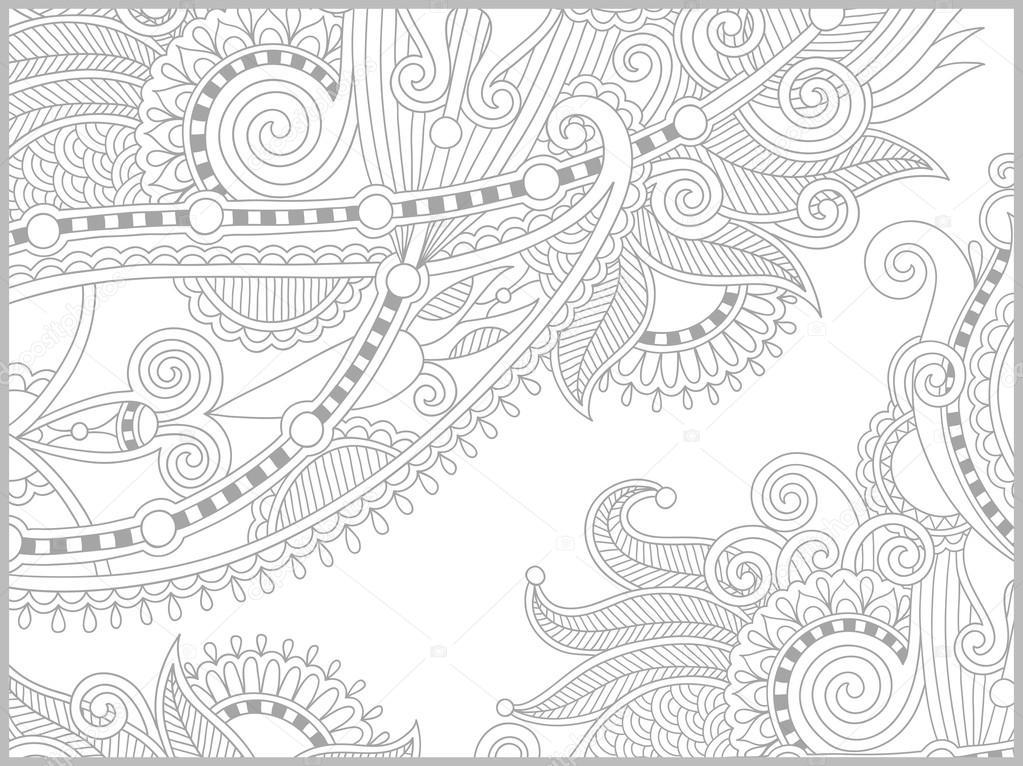 libro de colorear única página para adultos - diseño paisley de la ...