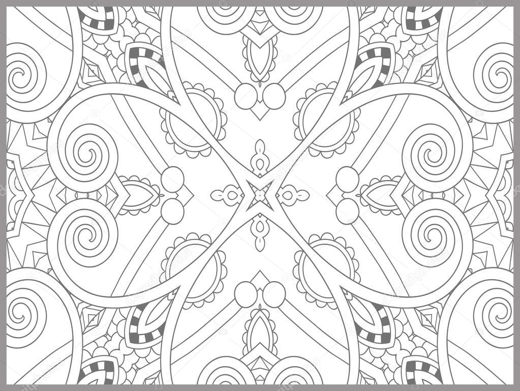 Paisley Designs Coloring Pages Unique Coloring Book Page For Adults Flower Paisley Design Stock Vector C Karakotsya 92433206