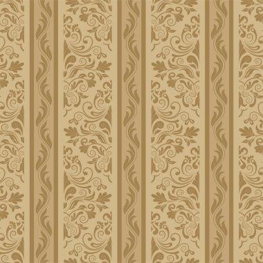 Damask seamless floral background pattern. Vector illustration clip art vector