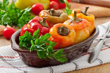 Stuffed peppers minced chicken