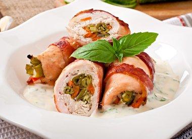 Delicious chicken rolls
