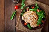 Chicken breast with fresh salad
