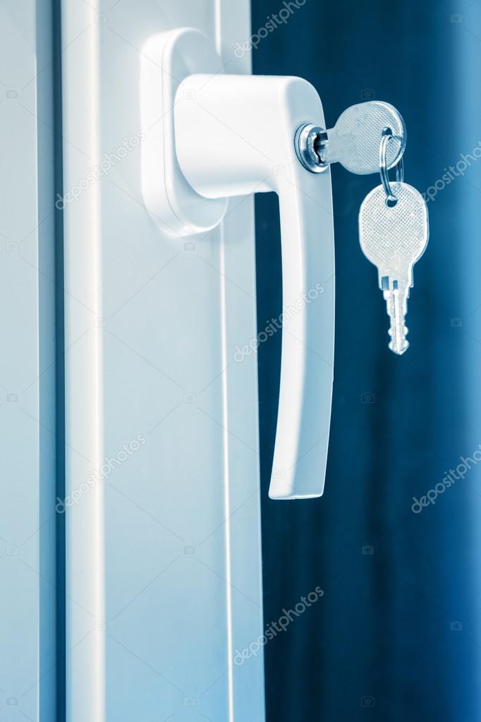 Handle plastic windows — Stock Photo © Garsya #92541204