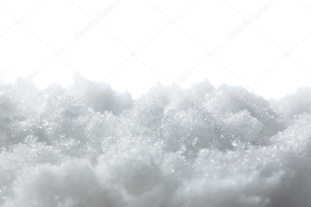 Bright white snow