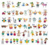 Fotografie Mega sbírka kreslených zvířat v zájmovém chovu