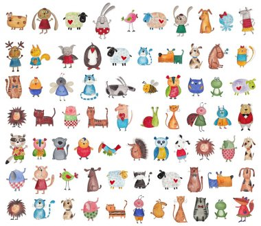 Mega collection of cartoon pets