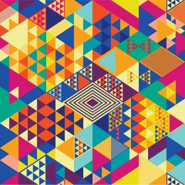 Geometric pattern pop art
