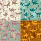 Fotografie Bezešvé pattern dinosauři