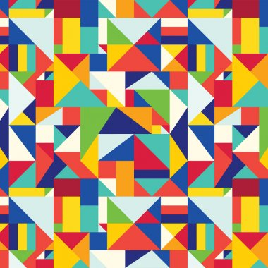 Pattern geometric cubizm