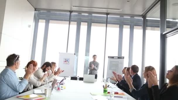 male advertising executive giving presentation