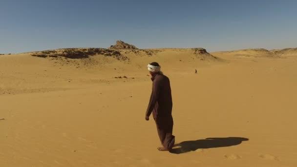 Núbijské muž v poušti